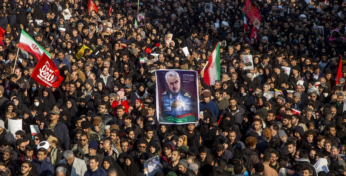 Teheran. Pogrzeb generała Kasema Sulejmaniego