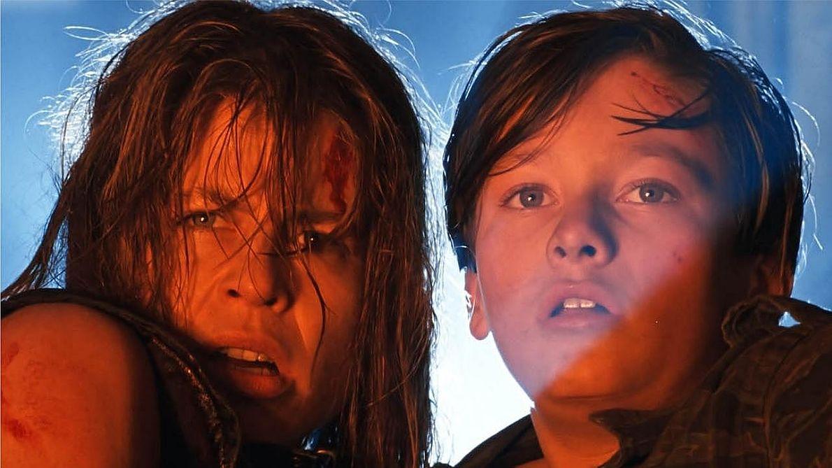 """Tu jeszcze w przeszłości. Kadr z """"Terminatora 2"""", gdzie występowała obok Edwarda Furlonga"""
