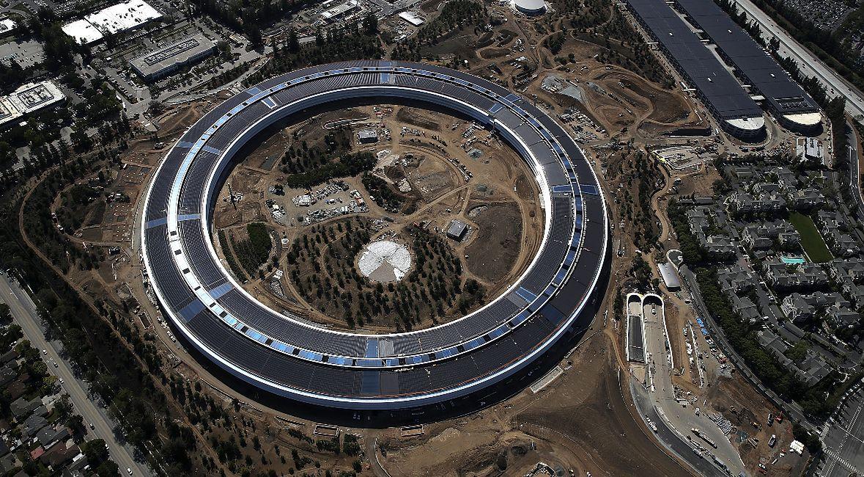 Apple Park - główna siedziba firmy Apple Inc. znajdująca się w słynnej Dolinie Krzemowej. 28 kwietnia 2017 r., Cupertino, California.