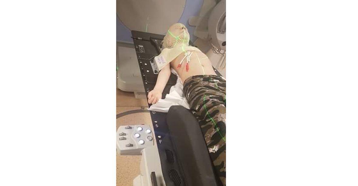 Pan Torpeda podczas kolejnego zabiegu w szpitalu