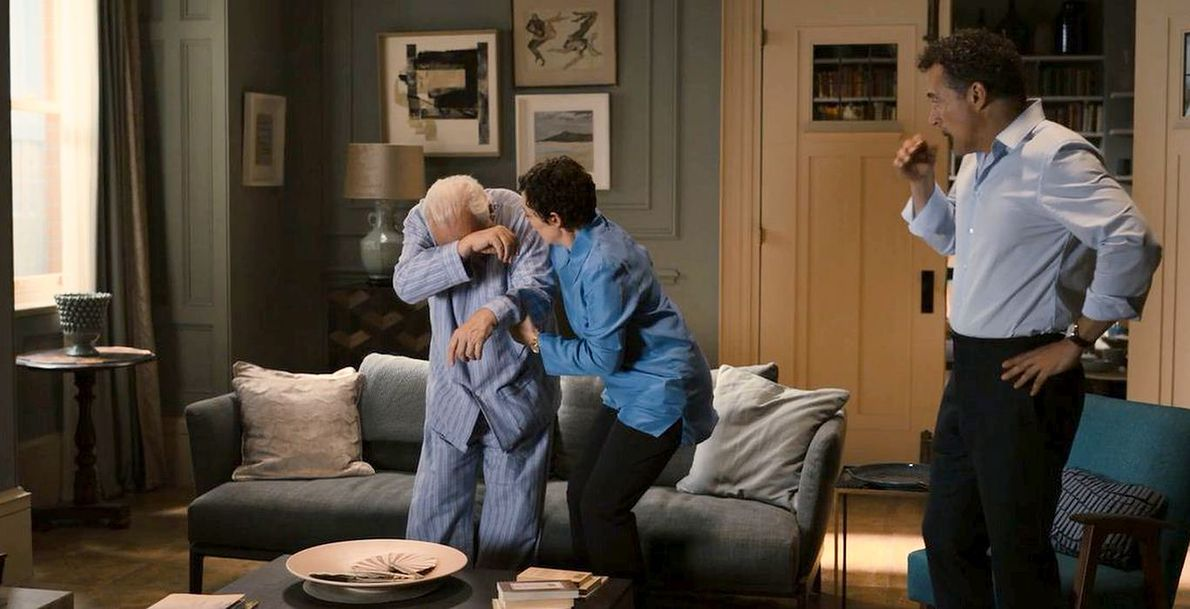 "Anthony Hopkins, Olivia Colman i Oscar Isaac w filmie ""Ojciec"""