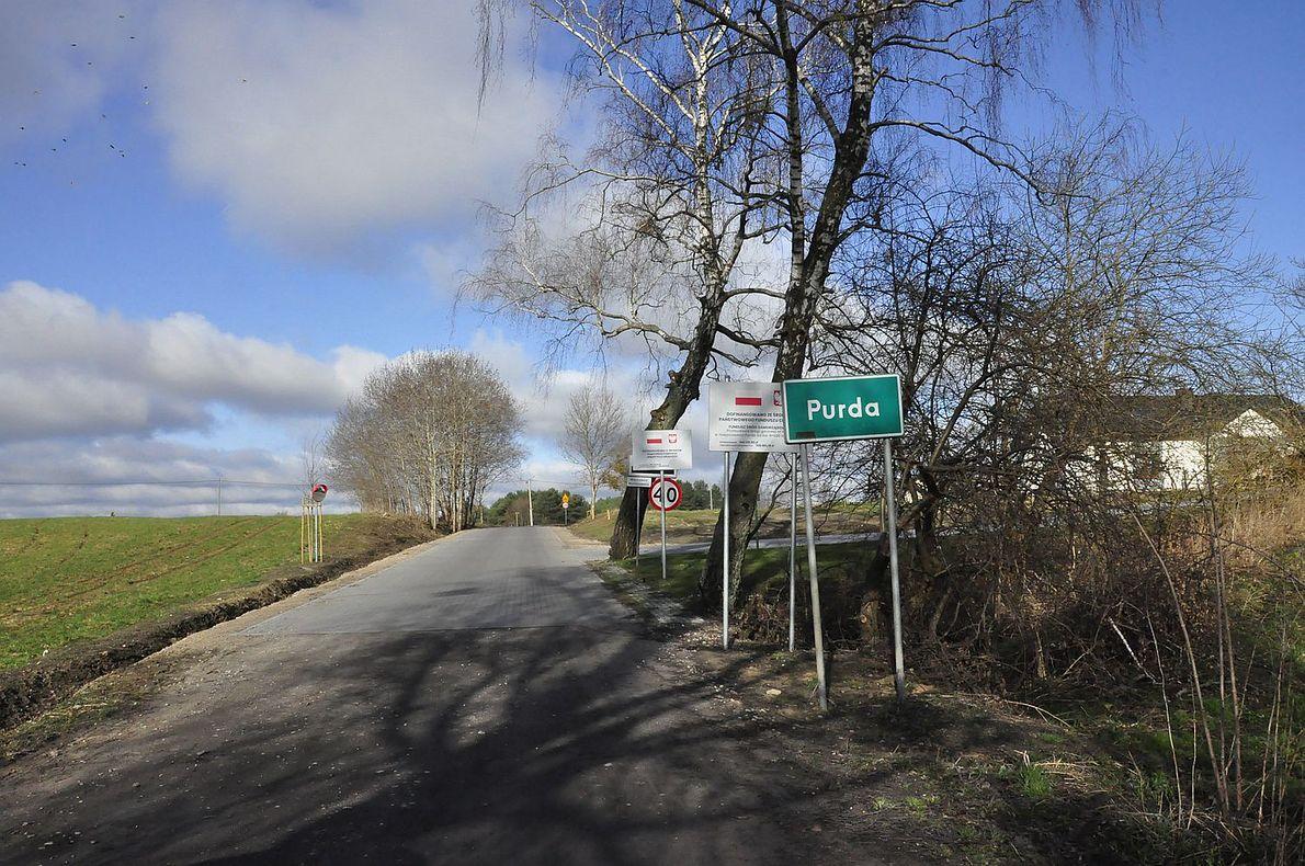 Wieś Purda, w której mieszka Jadwiga Wagner