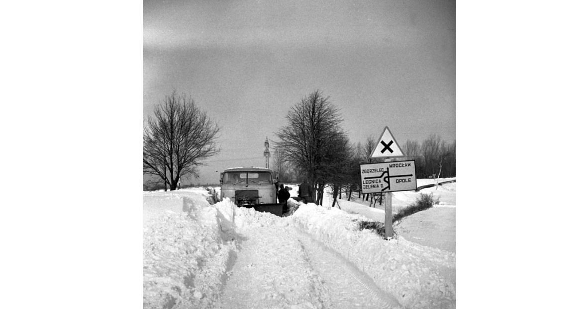 Zima 1963 roku. Okolice Wrocławia
