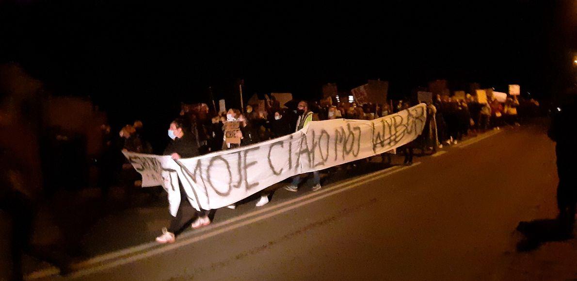 Protest w Dobczycach