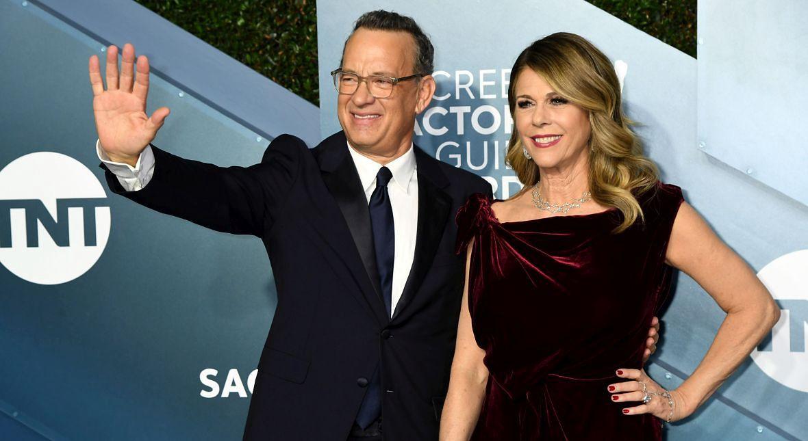 Tom Hanks z żoną, Ritą Wilson