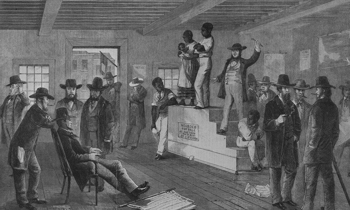 Aukcja niewolników w Wirginii w 1861 r.