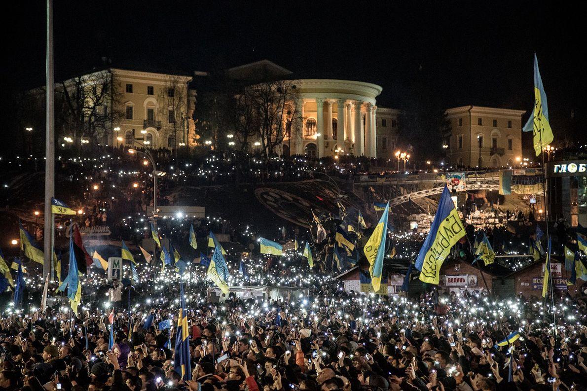 Protesty na kijowskim Majdanie, 14.12.2013 r.