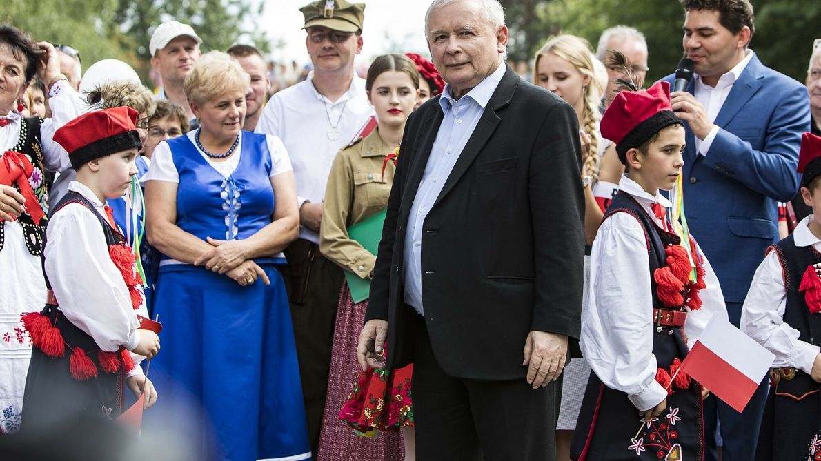 Jarosław Kaczyński na spotkaniu z wyborcami