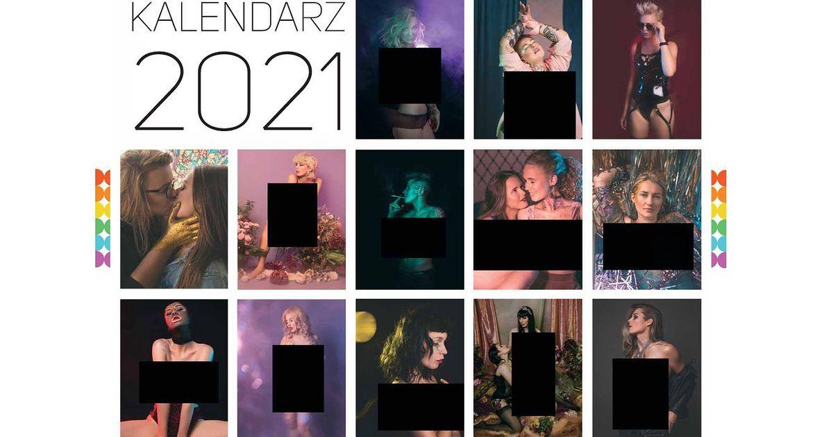 Kalendarz Repliki na 2021 rok. Wersja, w której pozują lesbijki