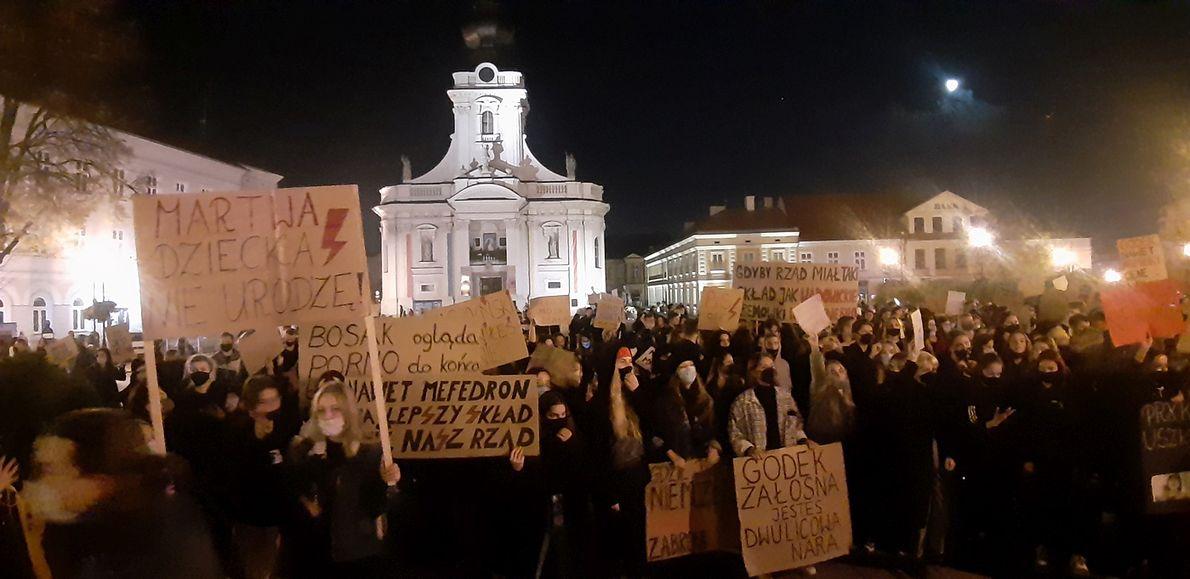 Protest kobiet w Wadowicach