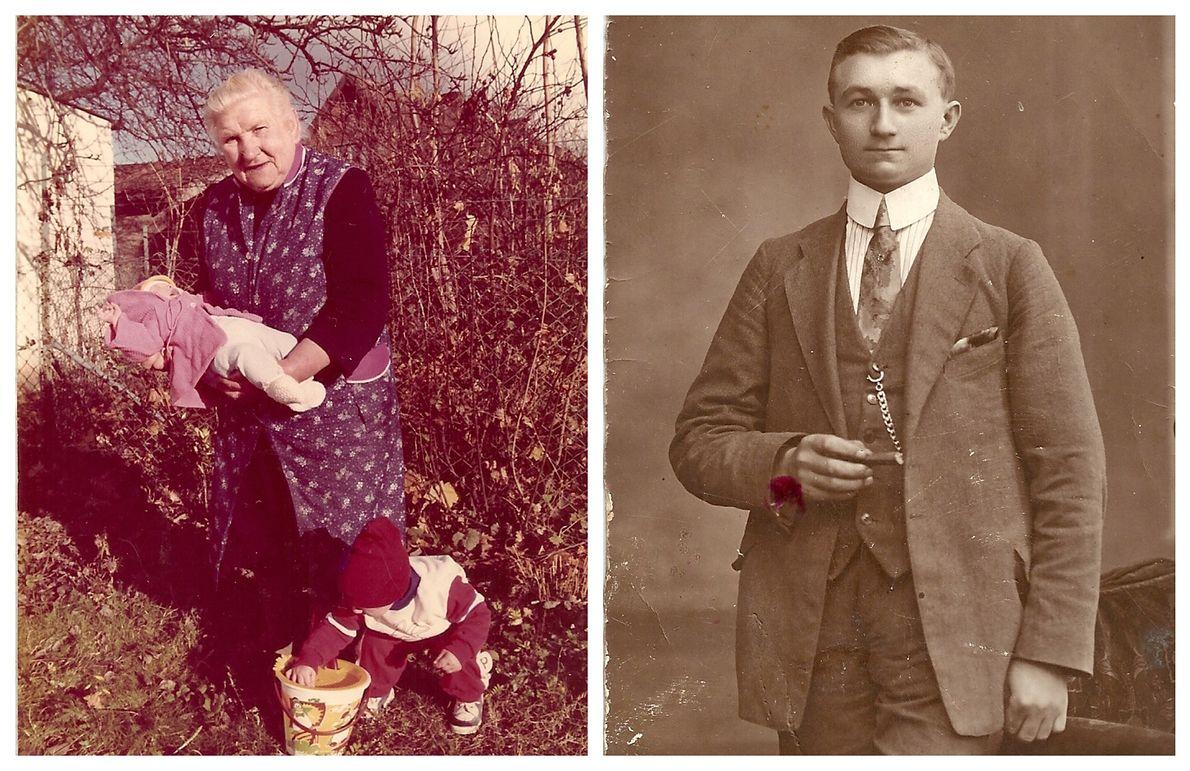 Po lewej mama Jadwigi Wagner wiele lat po II wojnie światowej. Po prawej tata Jadwigi - zginął w czasie wojny
