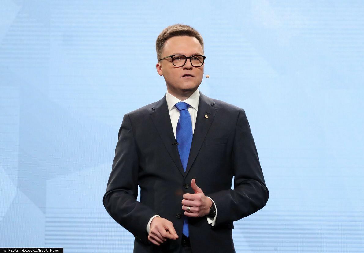 Szymon Hołownia na prezentacji swojego ruchu - Polska 2050