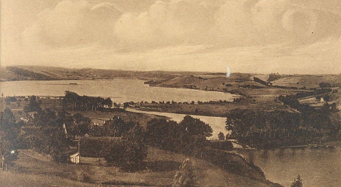 Widok na jeziora Raduńskie. Rok 1932