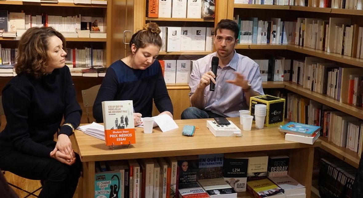 Shulem Deen podczas spotkania z czytelnikami. Paryż, rok 2016