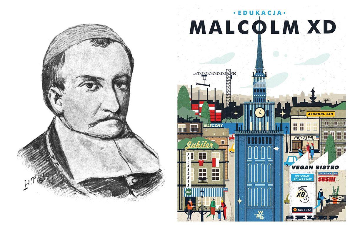Po lewej: Imaginacyjny portret Galla Anonima autorstwa Henryka Piątkowskiego z 1898 roku; na podstawie XVIII-wiecznego obrazu olejnego z kolegiaty kruszwickiej, po prawej: okładka książki Malcolma XD